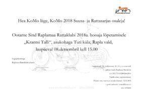 Raplamaa Rattaklubi 2018 Suusa- ja Rattahooaja lõpetamine ning Koondtabelid.